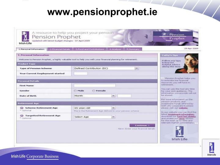 www.pensionprophet.ie
