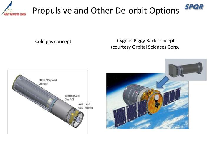 Propulsive and Other De-orbit Options