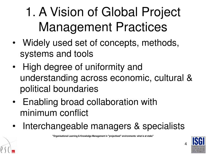1. A Vision of Global Project Management Practices
