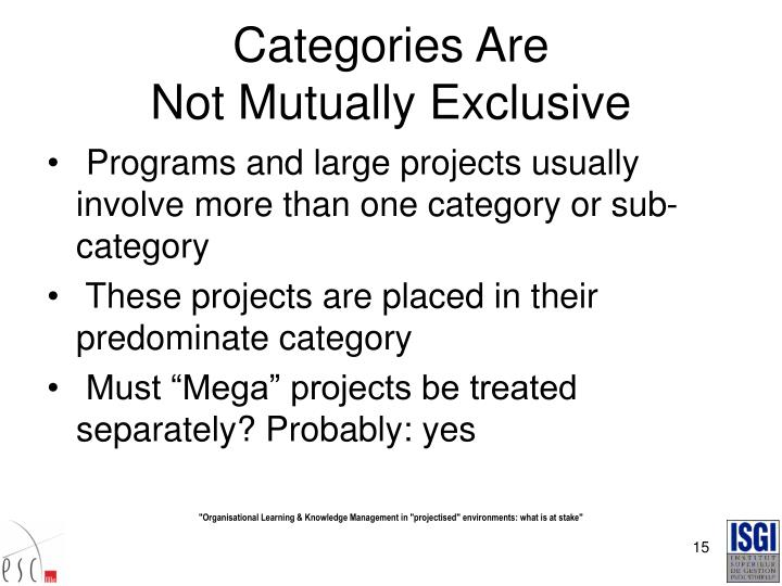 Categories Are