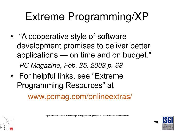Extreme Programming/XP