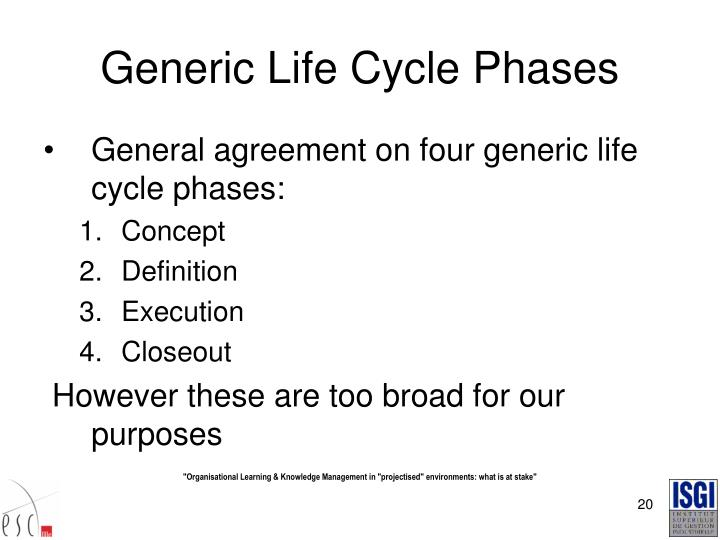 Generic Life Cycle Phases
