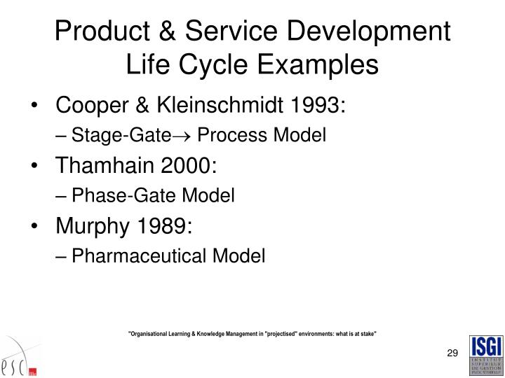 Product & Service Development Life Cycle Examples