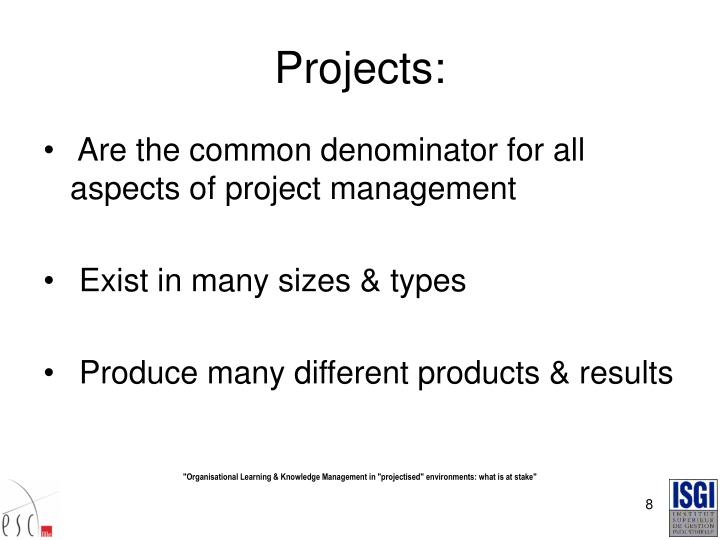 Projects: