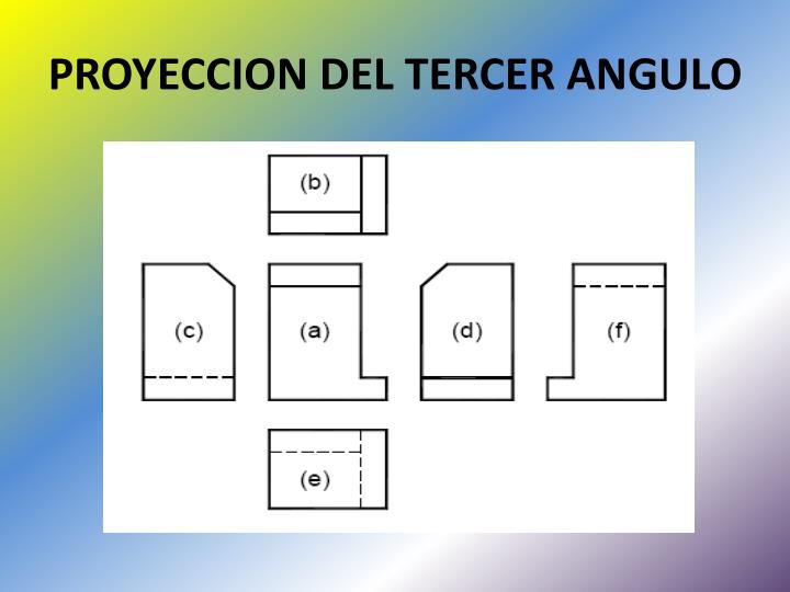 PROYECCION DEL TERCER ANGULO