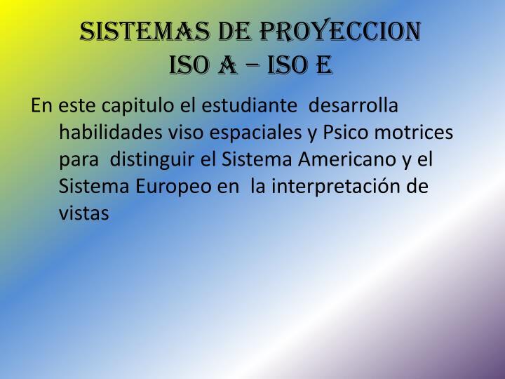 SISTEMAS DE PROYECCION