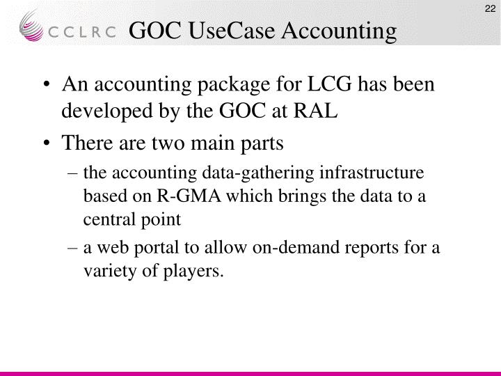 GOC UseCase Accounting