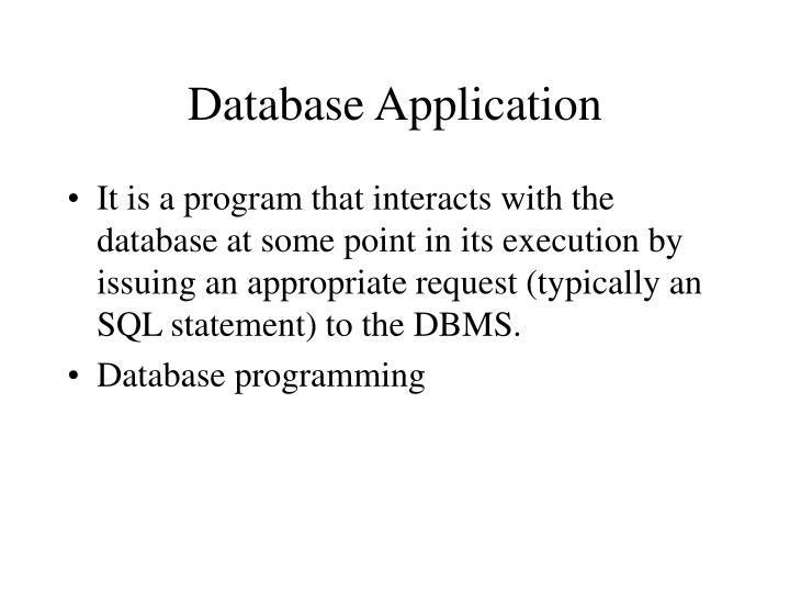 Database Application