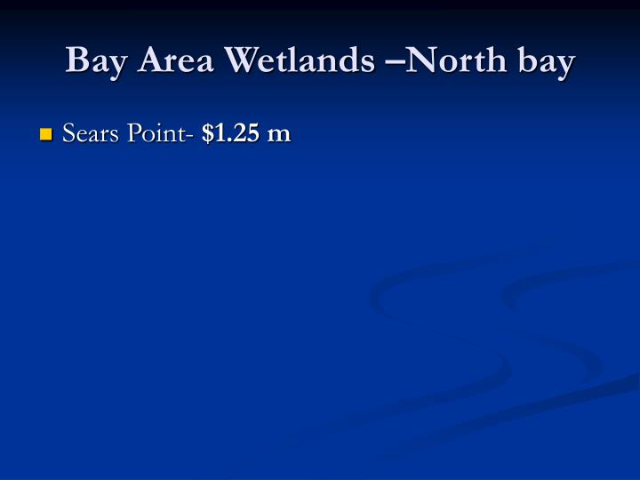 Bay Area Wetlands –North bay