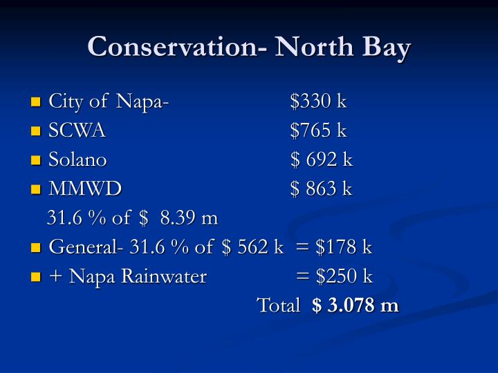 Conservation- North Bay