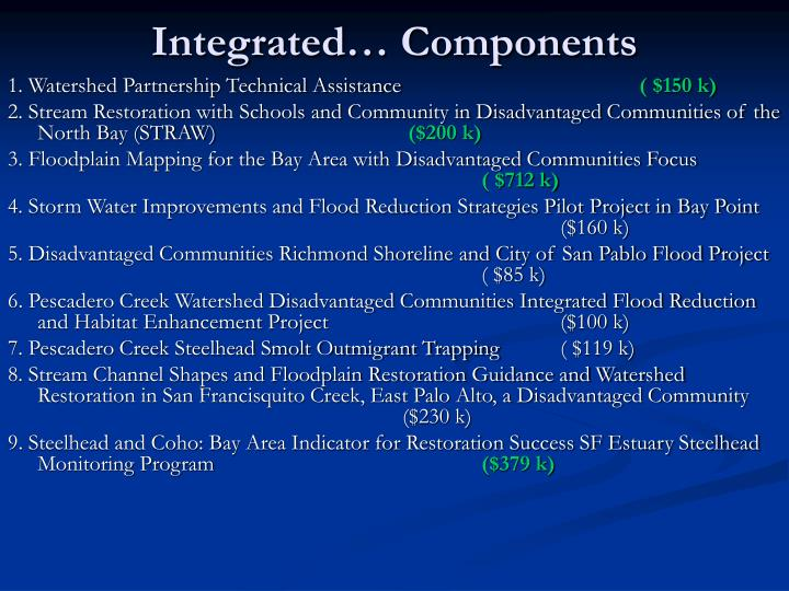 Integrated… Components