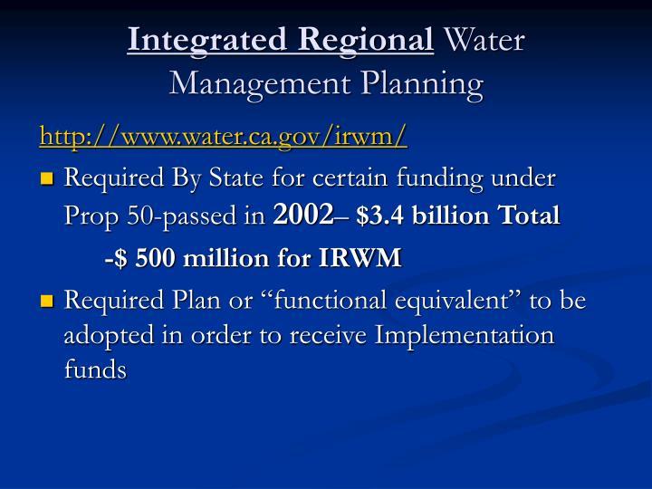 Integrated Regional