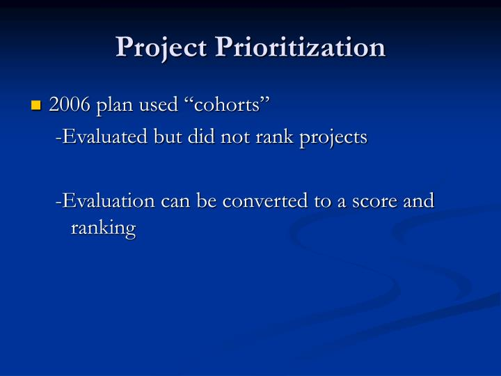 Project Prioritization