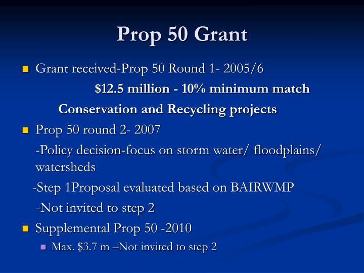 Prop 50 Grant