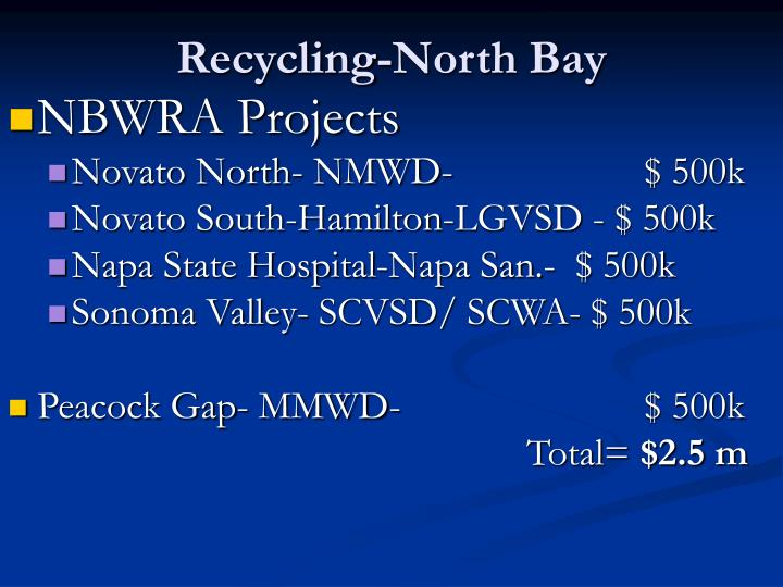 Recycling-North Bay