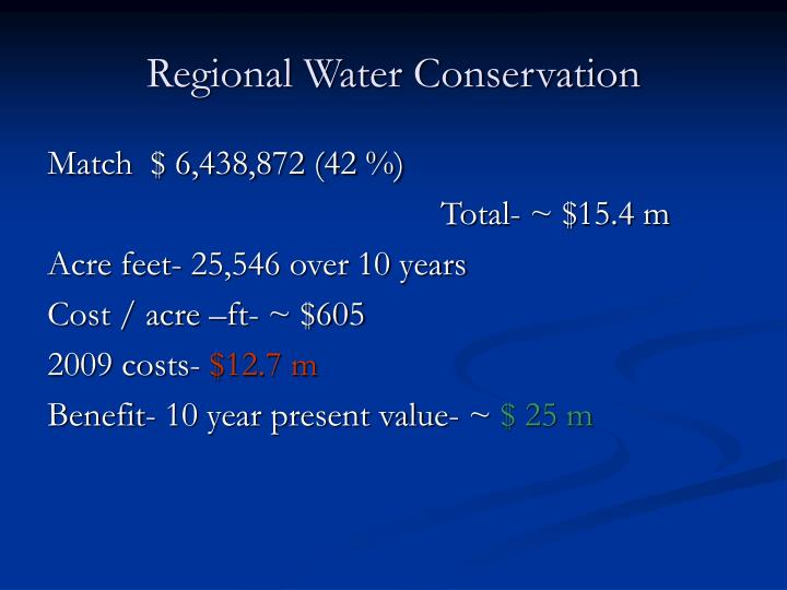 Regional Water Conservation