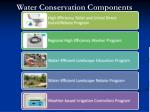 water conservation components