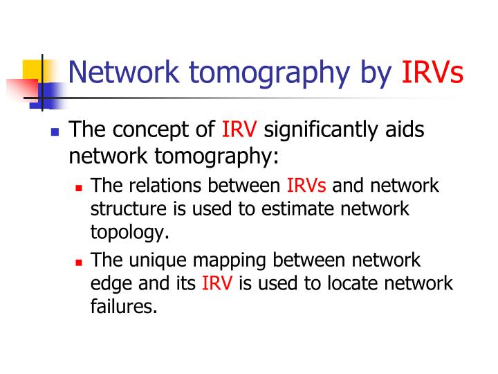 Network tomography by