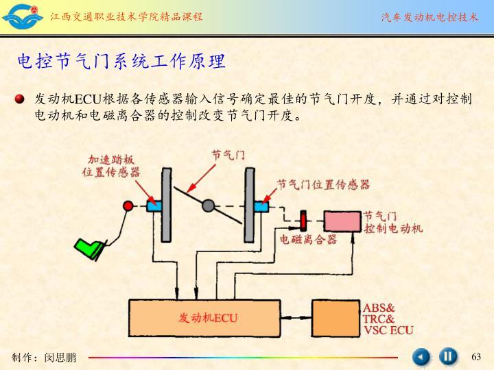 电控节气门系统工作原理