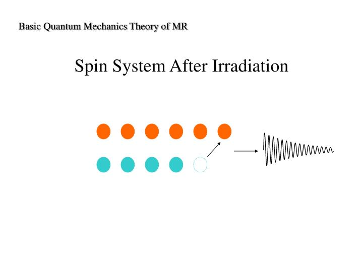 Basic Quantum Mechanics Theory of MR