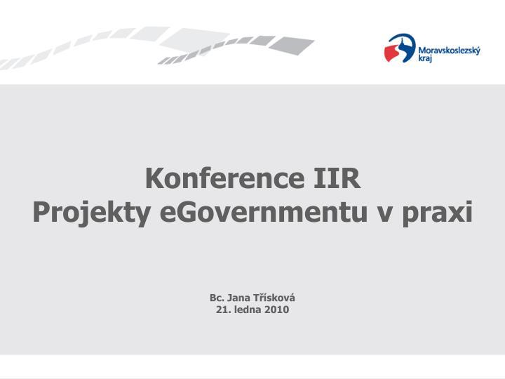 Konference IIR