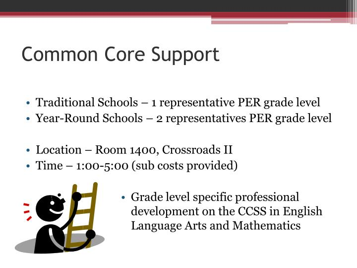 Common Core Support