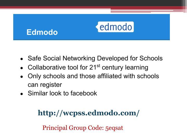 http://wcpss.edmodo.com/
