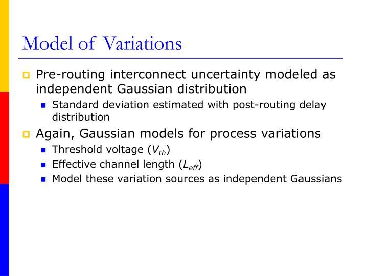Model of Variations