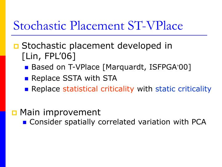 Stochastic Placement ST-VPlace
