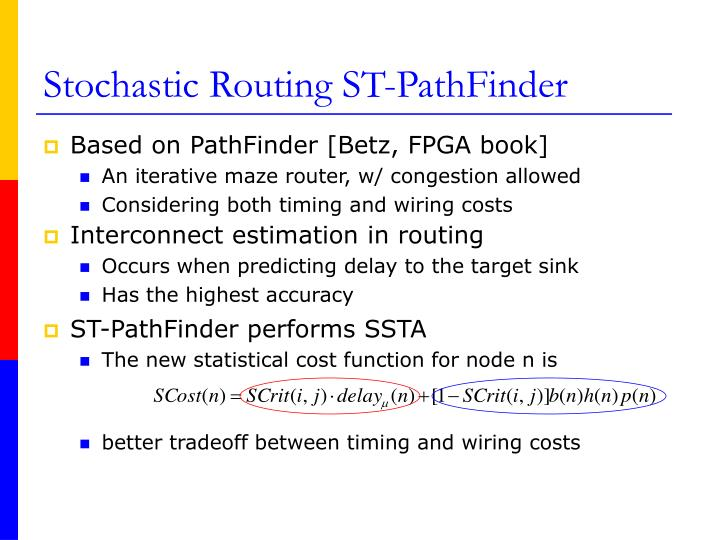 ST-PathFinder performs SSTA