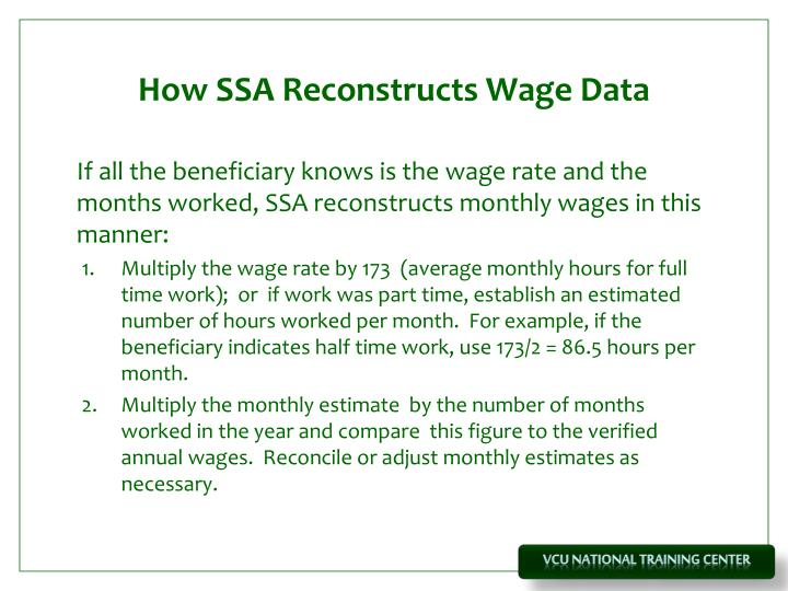 How SSA Reconstructs Wage Data