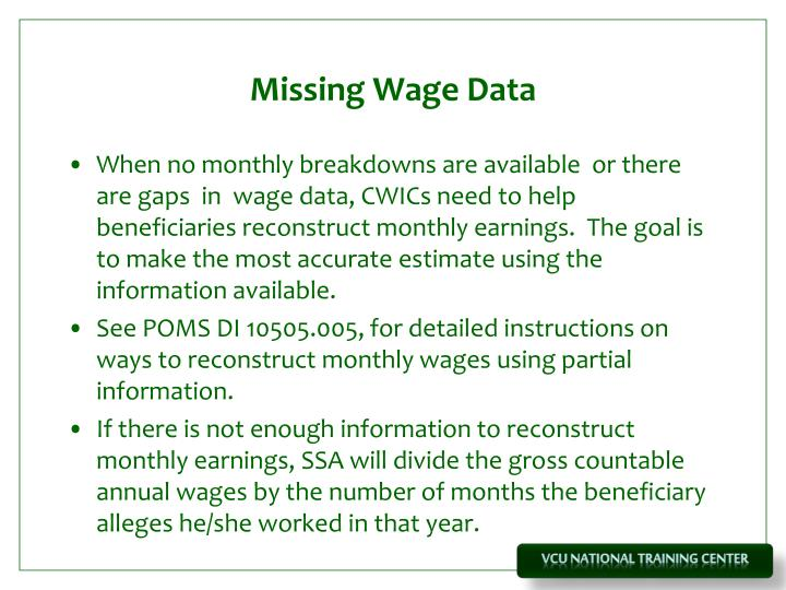 Missing Wage Data