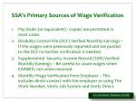 ssa s primary sources of wage verification