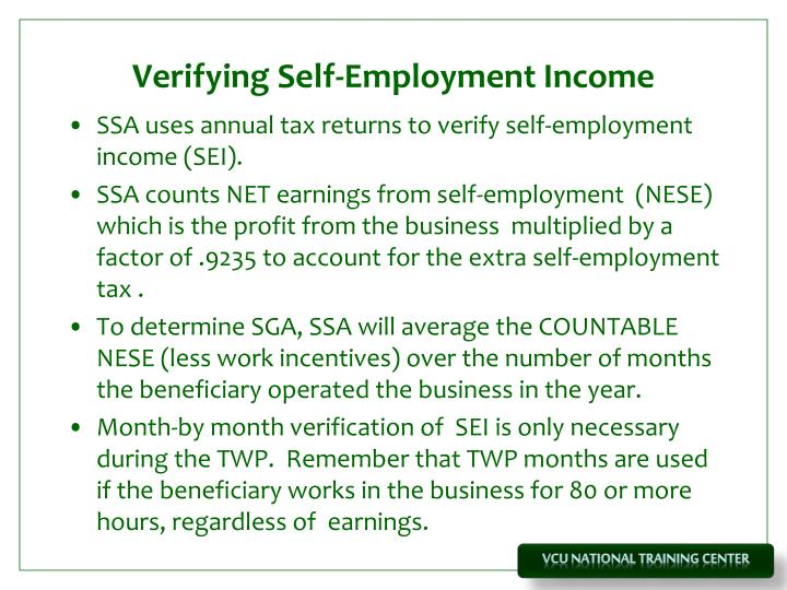 Verifying Self-Employment Income
