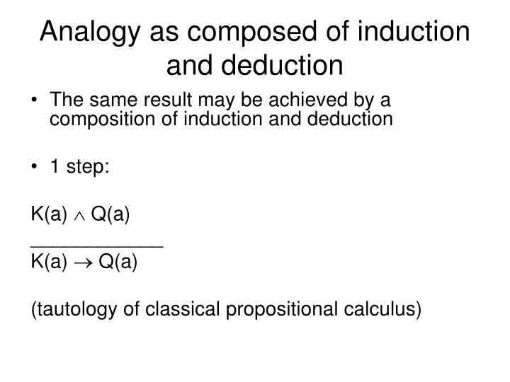 Analogy as composed of induction and deduction