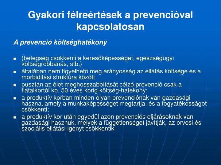 Gyakori félreértések a prevencióval kapcsolatosan