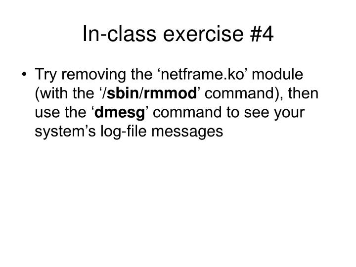 In-class exercise #4