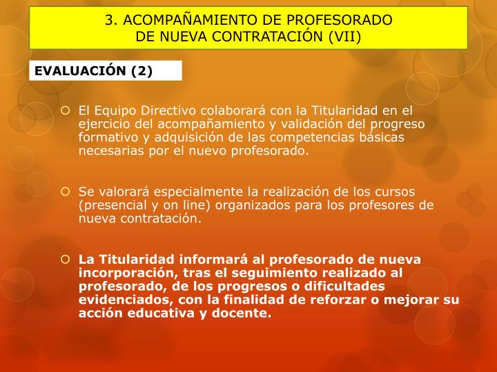 3. ACOMPAÑAMIENTO DE PROFESORADO