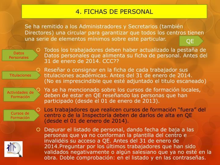 4. FICHAS DE PERSONAL
