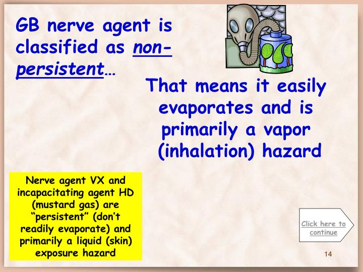 GB nerve agent is classified as