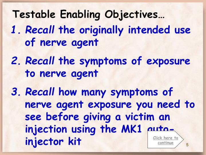 Testable Enabling Objectives…