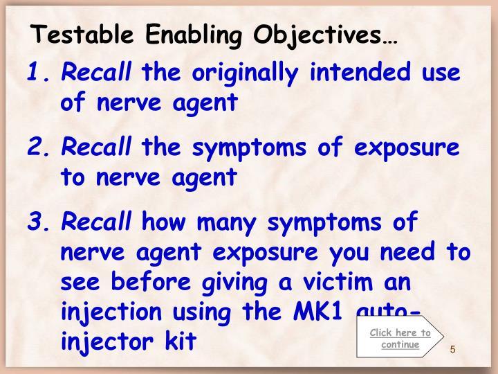 Testable Enabling Objectives…