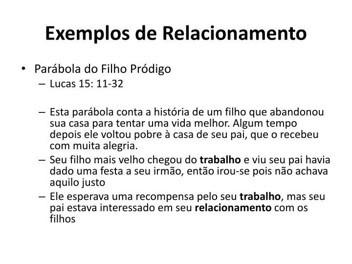 Exemplos de Relacionamento