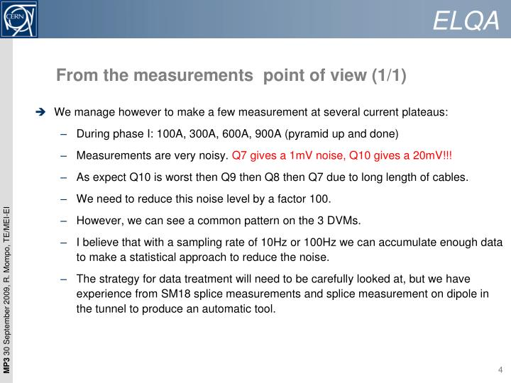 From the measurements  point of view (1/1)