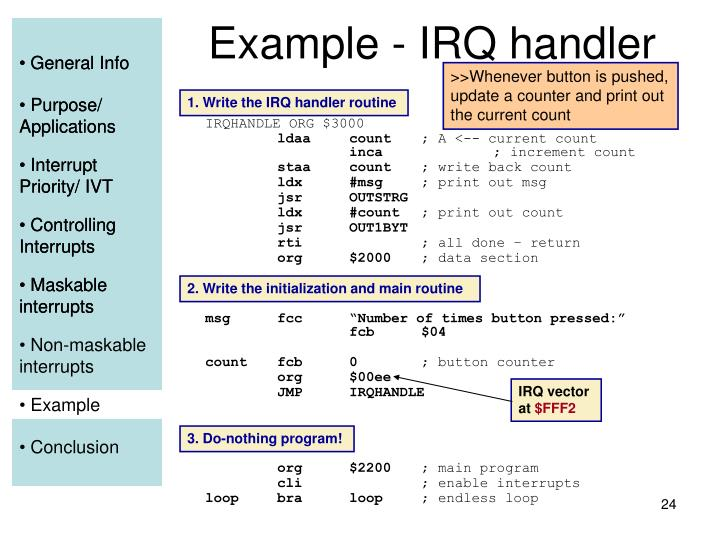 Example - IRQ handler