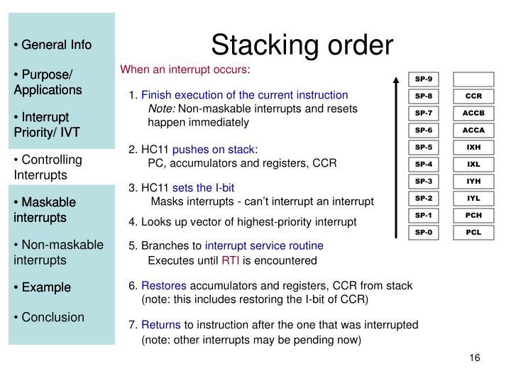 Stacking order