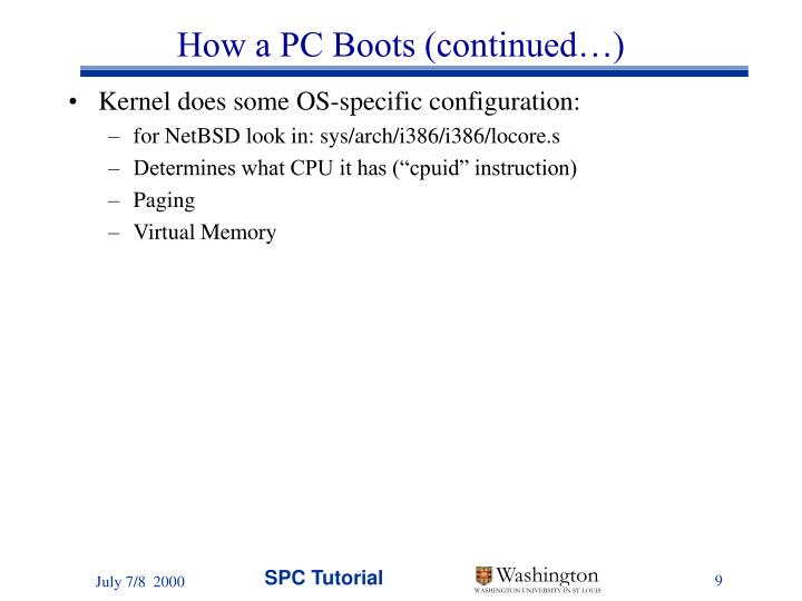 How a PC Boots (continued…)