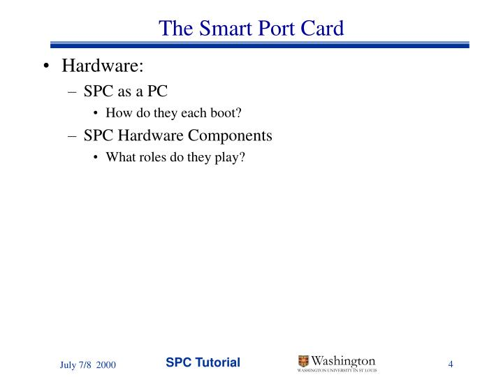 The Smart Port Card