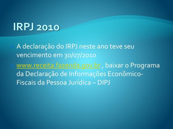 IRPJ 2010