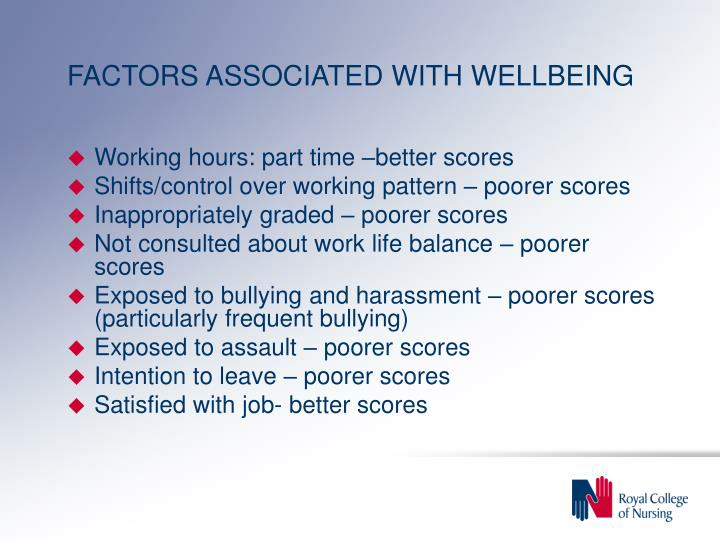 FACTORS ASSOCIATED WITH WELLBEING